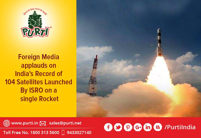 104 Satellites Launched By ISRO on a single Rocket