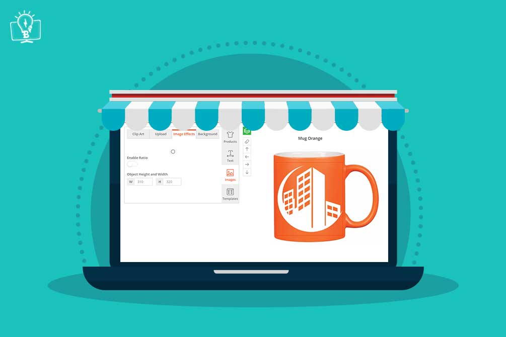 Web to print design tool